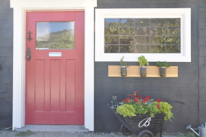 Bella Tasting Room Door